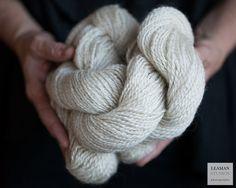 Natural White Teeswater Wool Yarn by WildRoseFarmFibers on Etsy