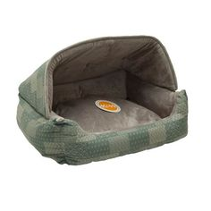This snuggle bed offers pet privacy and a secure place to cuddle up. The hood can be removed and converted to a lounge sleeper. The pillow is removable and has a zipper for easy machine washing. The p...