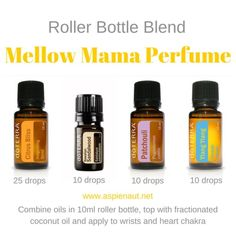mellow mama perfume roller bottle blend citrus bliss Hawaiian sandalwood patchouli ylang ylang doterra essential oils by maryellen