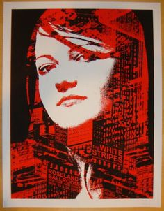 The White Stripes w/ Whirlwind Heat and Autolux - silkscreen concert poster (click image for more detail) Artist: Rob Jones Venue: Roseland Ballroom Location: NYC, NY Concert Date: Editi Pop Posters, Band Posters, Music Posters, Meg White, Jack White, Concert Flyer, Concert Posters, Rob Jones, Seven Nation Army