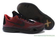 Kobe Bryant Vermelho/Preto Nike Kobe X