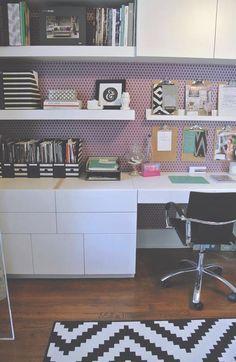 Office inspiration | http://jillianastasia.com/home-tour-modern-hive/