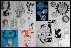 This was my Level One Visual Art portfolio board that I did last year my theme was the Art of Camille d'Errico. I really wanted to learn her sty. NCEA Level One Visual Art Portfolio Board Paint Photography, My Themes, Art Portfolio, Teaching Art, Design Process, Art School, Art Boards, Her Style, New Art