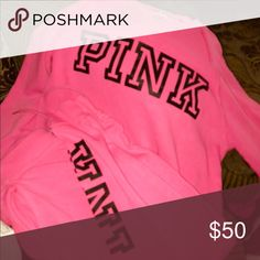 Pink sweat suits Pink sweat suit PINK Victoria's Secret Other