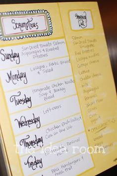 Have to learn to meal plan!