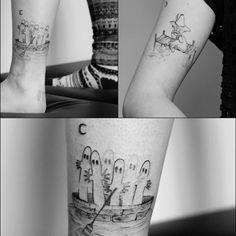 """Polubienia: 246, komentarze: 3 – Dziarczyncy (@dziarczyncy) na Instagramie: """"Hatifnatowie w najeździe! #dziarczyncy #zuza #poznan #minimaltattoo #smalltattoo #hattifatteners…"""" Dope Tattoos, Anime Tattoos, Tatoos, Moomin Tattoo, Tattoo Inspiration, Piercing, Body Art, Tove Jansson"""