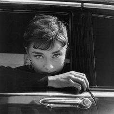 "#AudreyHepburn by #DennisStock on the set of ""Sabrina"" by #BillyWilder - #NewYork 1954"