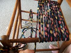 Tutorial for weaving a chair seat with cord she made. You could buy the cord if you wanted and wouldn't this work great on some of those lawn chairs that need repaired.