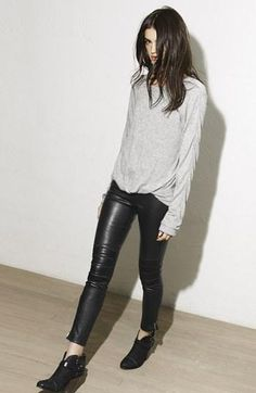 ★ //» Elizabeth & James Leather Moto Pants
