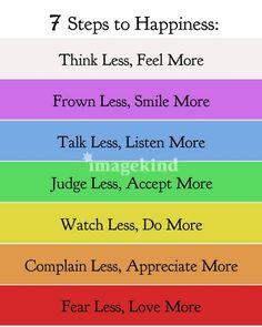7 Steps to Happiness | Doe Zantamata