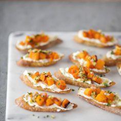 Crostini with Roasted Butternut Squash, Ricotta and Preserved Lemon | Food & Wine Recipe