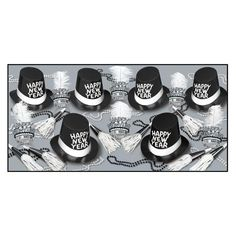 05f36aa3b88 Top Hat   Tails New Year s Eve Party Kit for 50 People (1 Kit Case)