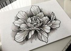 Ideas black art tattoo dots for 2019 Tattoo Design Drawings, Flower Tattoo Designs, Flower Designs, Art Drawings, Black Art Tattoo, Black And Grey Tattoos, Rose Tattoos, Flower Tattoos, Trendy Tattoos