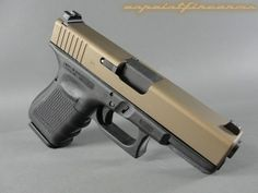 Glock 19 with Burnt Bronze Cerakote finish - this would look sweet with desert tan frame