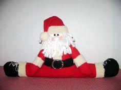 Papa Noel Patiabierto Xmas, Christmas Ornaments, Elf On The Shelf, How To Memorize Things, Santa, Holiday Decor, Fabrics, Papa Noel, Ideas