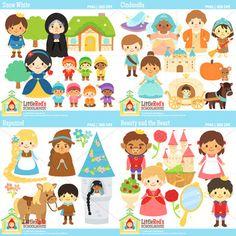 Clip Art - Treasured Tales Bundle - Fairy Tale Clipart Set 3 $