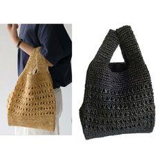 Bag Crochet, Crochet Market Bag, Crochet Handbags, Easy Crochet Stitches, Crochet Patterns, Bag Women, Yarn Bag, Knit Basket, Net Bag