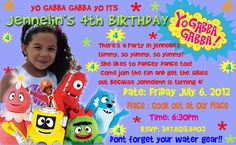 Yo Gabba Gabba Invitations Digital Printable by JaysPartyCreations, $19.99