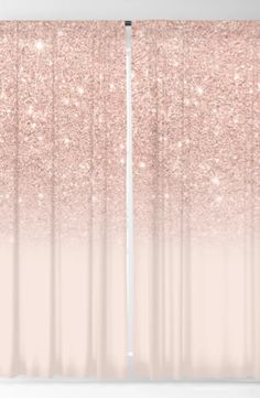 by Girly Trend Beautiful Rose Gold Pink Bedroom Decor Black out Curtains available in two sizes: (W) x (H) (W) x (H lightweight polyester gold bedroom ideas Rose gold faux glitter pink ombre color block Blackout Curtain Pink Gold Bedroom, Room Decor Bedroom Rose Gold, Glitter Bedroom, Rose Gold Rooms, Rose Gold Decor, Gold Home Decor, Pink Bedrooms, Room Ideas Bedroom, Girls Pink Bedroom Ideas