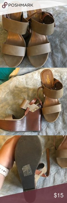 Charlotte Russe wedges Super cute and comfortable wedges! Only worn once for a grad party! Charlotte Russe Shoes Wedges