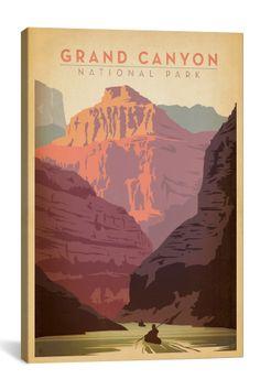 Vintage,  Grand Canyon National Park Canvas Print