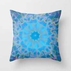 Into the Blue Throw Pillow by Lyle Hatch - $20.00