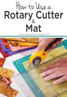 The most basic step in Quilting 101 is learning how to use a rotary cutter and mat. Once you've mastered this skill, you're on the road to being a quilter. Learn How to Get Perfectly Straight Fabric Cuts Every Time! #quilting #rotarycutter
