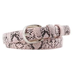 Women's Leather Belt With Snake Print | ZORKET | Material: Faux Leather • Style: Formal • Type: Belts, Solid