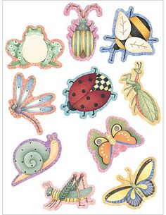Colorful Critters Accents from Debbie Mumm Quilling Butterfly, Butterflies, Arts And Crafts, Paper Crafts, Spring Theme, Decoupage Paper, Bees Knees, Easy Paintings, Painting For Kids