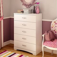 Newcastle 5 Drawer Chest (White) South Shore http://www.amazon.com/dp/B00UB9LB0I/ref=cm_sw_r_pi_dp_IEkNvb12YCF8K