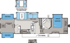 Jayco Eagle Premier 365BHS Floorplan