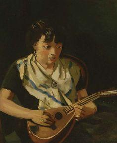 Fille a la mandoline,1931 ,by Andre Derain                                                                                                                                                     More