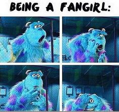 The most accurate fan girl lost I've ever seen...