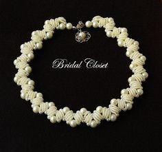 Wedding Bridal Pearl Necklace  Pearl Necklace by BridalCloset