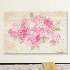 Lark Manor Peonies Passion Painting Print on Wrapped Canvas & Reviews | Wayfair
