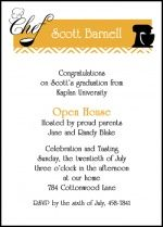 Personalized Invitation Announcement Stationery Cards: Culinary Cooking 2016 Graduation Announcement Invi...