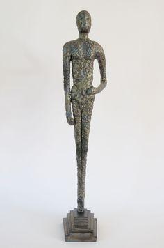 Giacomettifigur, 10 x 10 x 56 cm (BxTxH)
