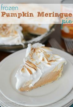 Frozen Pumpkin Meringue Pie