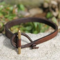 Zoe leather bracelet...$37 can see doing something like this but with beach stone or sea glass