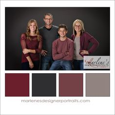 Greys and Burgundy Colour Palette