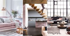 If you're looking for subtle, understated décor with a generous dose of sophistication, opt for a classic grey and dusky-pink colour scheme. One of the few home. Color Cobrizo, Modern Cottage, Living Spaces, Living Room, Gray Interior, Home Trends, Scandinavian Home, Bedroom Colors, Interior Design Inspiration