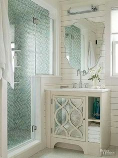 bathroom, cream and aqua bathroom, overlay