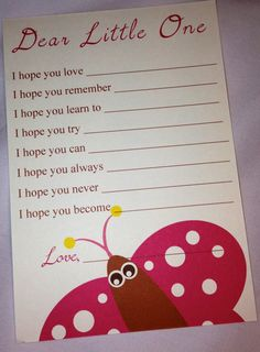 PRINTABLE Butterfly Baby Shower Wishes/Advice card by MySentimentsInvites Order: www.etsy.com/shop/mysentimentsinvites