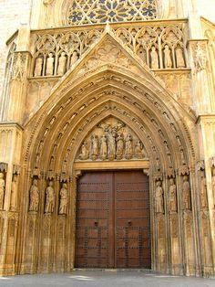 Gothic portal, cathedral of valencia | Flickr: Intercambio de fotos