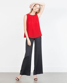 Image 1 of PLEATED TOP from Zara