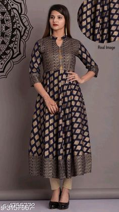 Kurtis & Kurtas Women's Printed Rayon Anarkali Kurti Fabric: Rayon Sleeve Length: Long Sleeves Pattern: Applique Combo of: Single Sizes: XL (Bust Size: 32 in Size Length: 20 in)  L (Bust Size: 32 in Size Length: 20 in)  M (Bust Size: 32 in Size Length: 20 in)  XXL (Bust Size: 32 in Size Length: 20 in) Country of Origin: India Sizes Available: S, M, L, XL, XXL   Catalog Rating: ★4.2 (462)  Catalog Name: Women's Printed Rayon Kurtis CatalogID_692315 C74-SC1001 Code: 724-4755772-0801