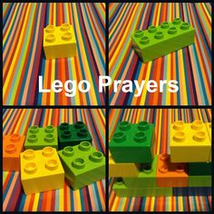 Lego (or Duplo) Prayers: A fun way to do prayer in your Children's Ministry or to Help teach kids how to pray. Flame Creative Kids Children's Ministry has many excellent ideas, stories, crafts etc for your Children's Ministry program. Sunday School Activities, Church Activities, Sunday School Lessons, Sunday School Crafts, Group Activities, Bible Activities, Religion Activities, Group Games, Bible Object Lessons