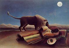 Henri Rousseau: Nukkuva mustalainen, 1897 (Museum of Modern Art, New York)