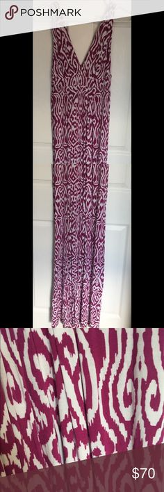Tart maxi dress Tart maxi dress in a magenta pink and white pattern. Size s. Excellent condition! Tart Dresses Maxi