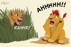 Kiara and Kion by WhitestripesArt on DeviantArt Lion King Series, Lion King Fan Art, Lion King 2, Disney Lion King, King Art, Hakuna Matata, Lion King Funny, Le Roi Lion, Disney Art